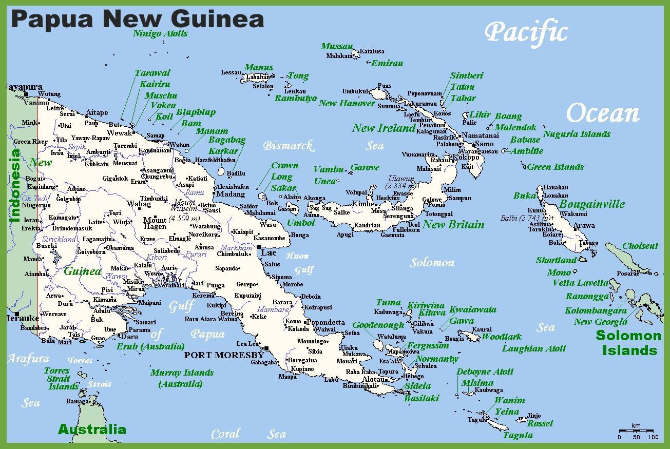 Papua new guinea map - Papua new guinea map (Melanesien / Ozeanien)